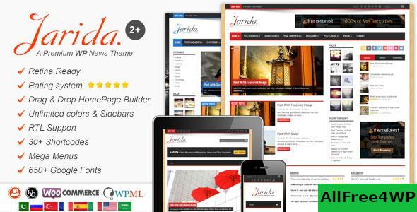 Download Jarida v2.4.8 - Responsive WordPress News, Magazine, Blog