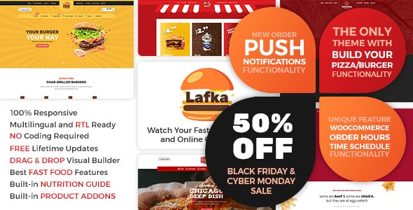 Download Lafka v1.4.3 - WooCommerce Theme for Burger Pizza Fast Food Delivery & Restaurant
