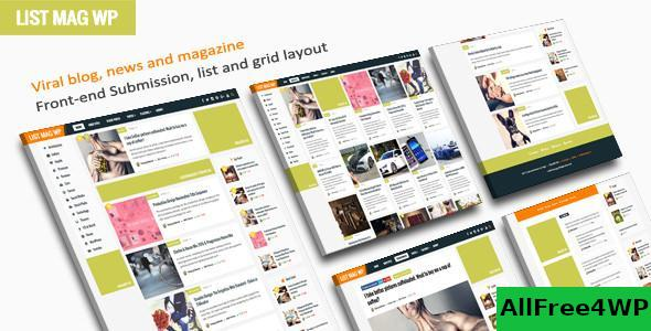 Download List Mag WP v2.9 - A Responsive WordPress Blog Theme