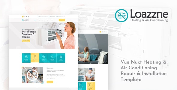 Loazzne v1.0 - Vue Nuxt Heating & Air Conditioning Services Template