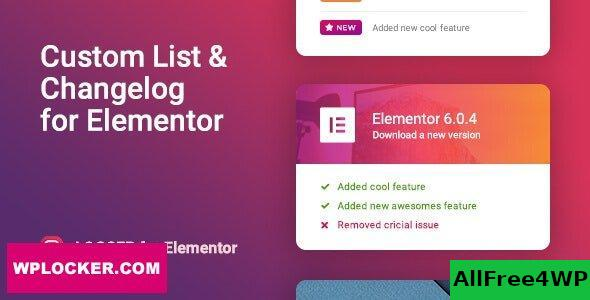 Logger v1.0.2 - Changelog & Custom List for Elementor
