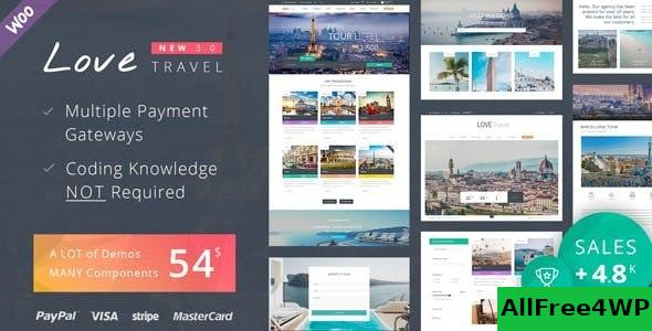 Download Love Travel v3.7 - Creative Travel Agency WordPress