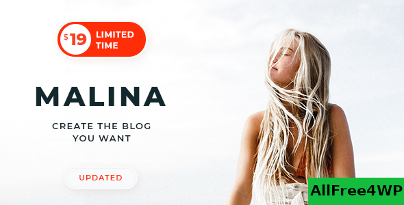 Download Malina v1.9.1 - Personal WordPress Blog Theme