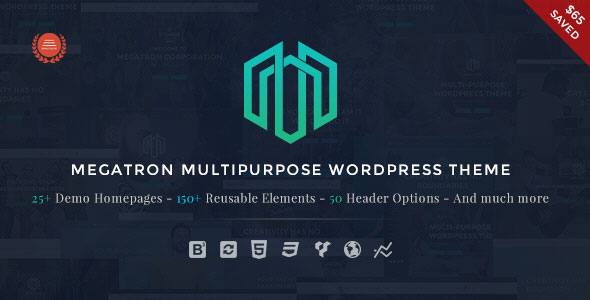 Download Megatron v3.1 - Responsive MultiPurpose WordPress Theme
