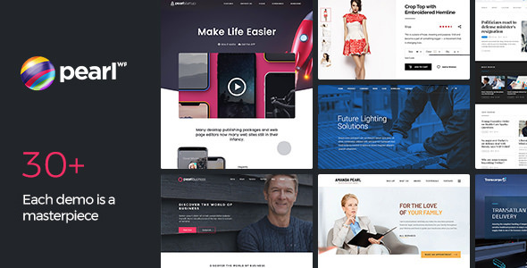 Download Pearl WP v3.1.3 - Corporate Business WordPress Theme