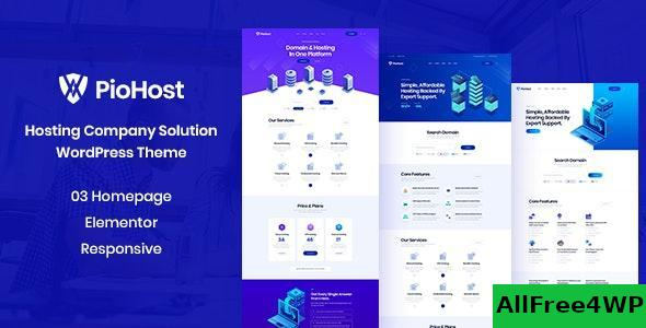 Download Piohost v1.0 - Domain and Web Hosting WordPress Theme