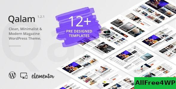 Download Qalam v1.2.6 - NewsPaper and Magazine WordPress Theme