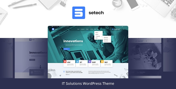 Download Setech v1.0.2 - IT Services and Solutions WordPress Theme