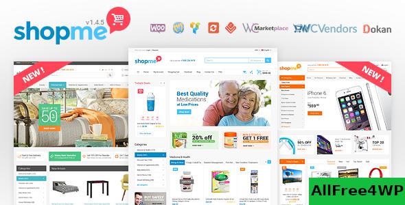 Download ShopMe v1.5.3 - Woocommerce WordPress Theme