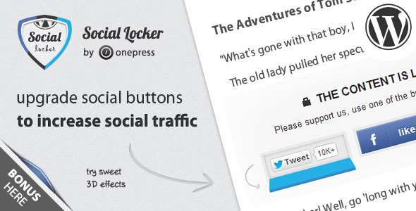 Social Locker for Wordpress v5.5.0
