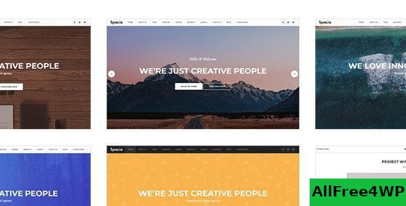 Spacia v2.0 - One Page Parallax Theme