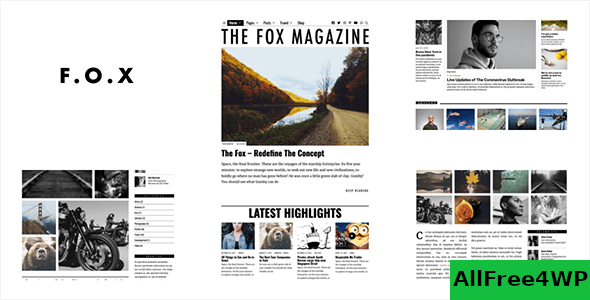 Download The Fox v4.3.0 - Minimal Blog/Magazine Theme For Creators