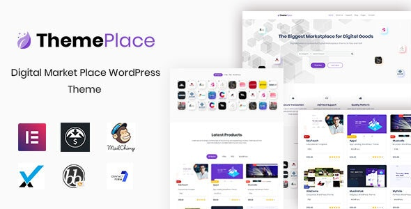 Download ThemePlace v1.1.4 - Marketplace WordPress Theme