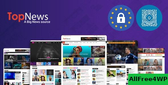 Download TopNews v3.3.4 - News Magazine Newspaper Blog Viral & Buzz WordPress Theme