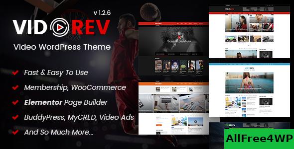 Download VidoRev v2.9.9.9.4 - Video WordPress Theme