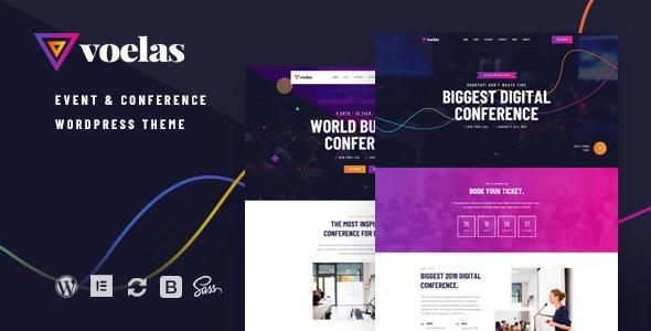 Download Voelas v1.0.5 - Event & Conference WordPress Theme