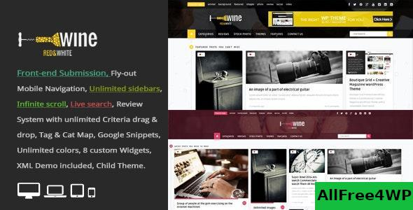 Download Wine Masonry v2.9 - Review & Front-end Submission WordPress Theme