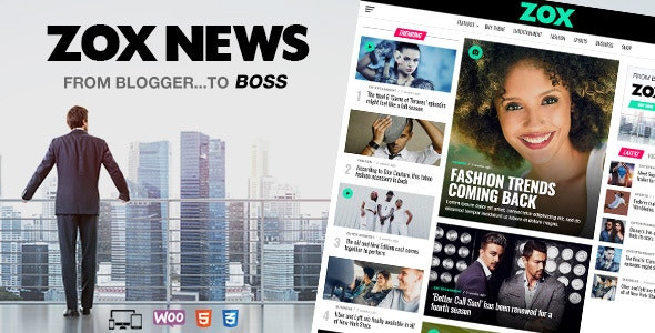 Download Zox News v3.3.2 - Professional WordPress News