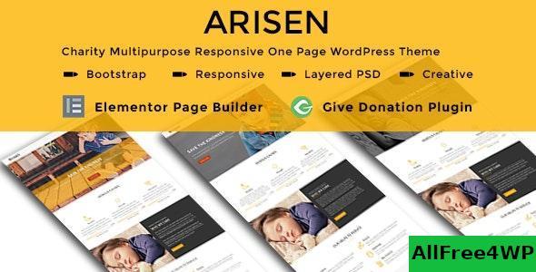 Download ARISEN v1.0 - Charity Multipurpose Responsive One Page WordPress Theme