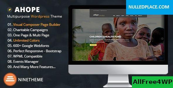 Download Ahope v2.3.0 - Nonprofit WordPress Theme