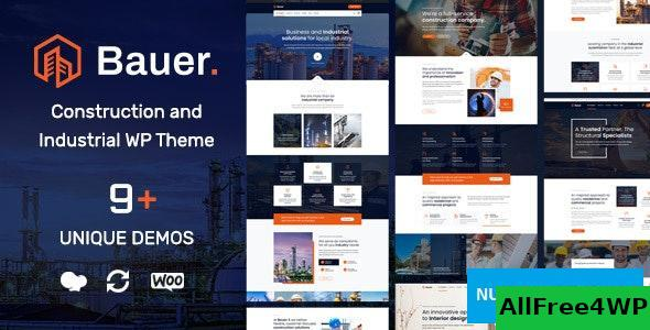 Download Bauer v1.5 - Construction and Industrial WordPress Theme