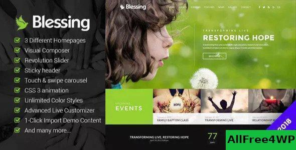 Download Blessing v1.5.8 - Responsive Theme for Church Websites