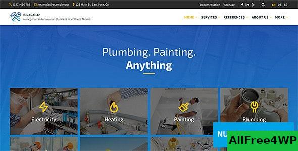Download BlueCollar v2.5.1 - Handyman & Renovation Business WordPress Theme