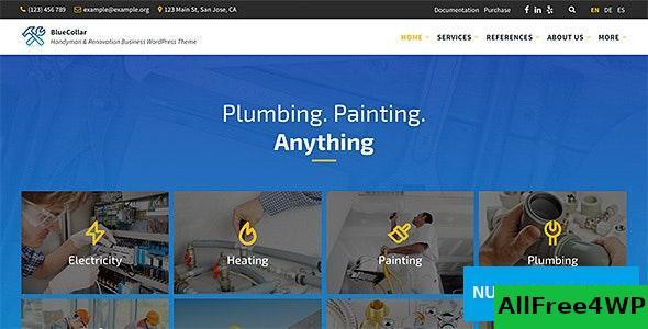Download BlueCollar v2.5.1 - Handyman & Renovation Business WordPress Theme