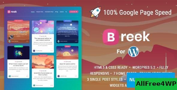 Download Breek v3.1.0 - Minimal Masonry Theme for WordPress