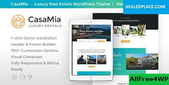 Download CasaMia v1.1.3 - Property Rental WordPress Theme