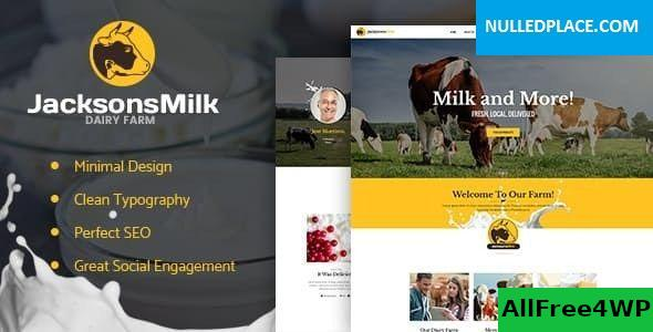 Download Dairy Farm & Eco Milk Products WordPress Theme v1.2