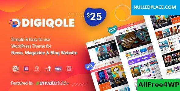 Download Digiqole v1.2.5 - News Magazine WordPress Theme