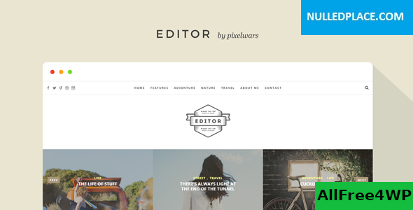 Download Editor v1.5.6 - A WordPress Theme for Bloggers