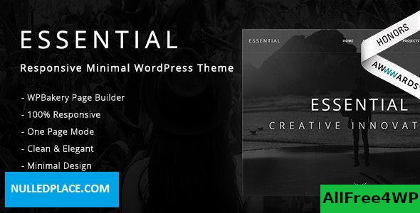 Download Essential v1.2.5 - Responsive Minimal WordPress Theme