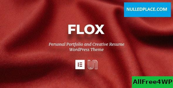 Download FLOX v1.0 - Personal Portfolio & Resume WordPress Theme