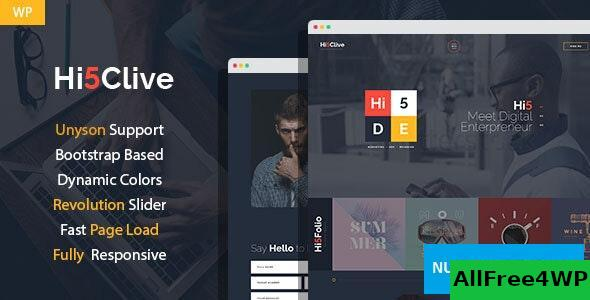 Hi5Clive v1.3.0 - Digital Marketing Entrepreneur WordPress Theme