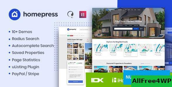 Download HomePress v1.1.9 - Real Estate WordPress Theme