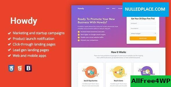 Download Howdy v1.0.3 - Multipurpose High-Converting Landing Page WordPress Theme