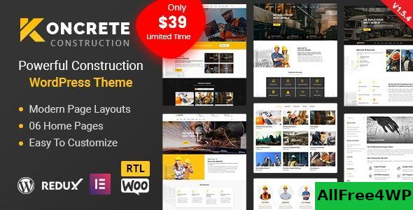 Download Koncrete v1.5.4 - Construction Building WordPress Theme
