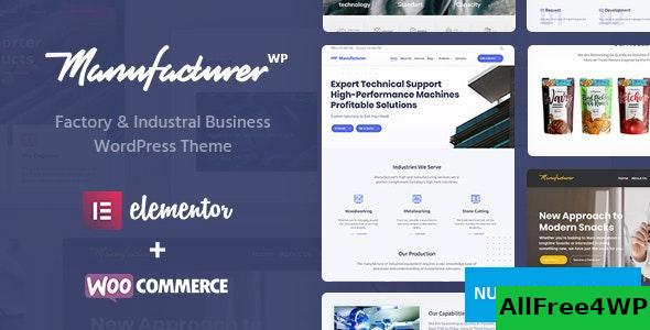 Download Manufacturer v1.2.1 - Factory and Industrial WordPress Theme