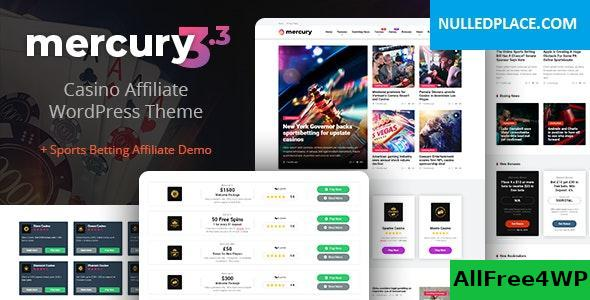 Download Mercury v3.4.1 - Gambling & Casino Affiliate WordPress Theme. News & Reviews