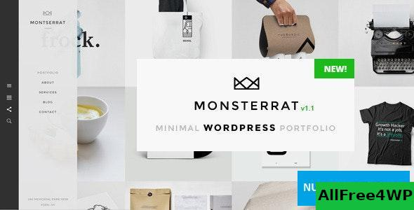 Download Monsterrat v1.2.1 - Minimal WordPress Portfolio Theme