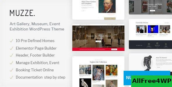 Download Muzze v1.2.3 - Museum Art Gallery Exhibition WordPress Theme