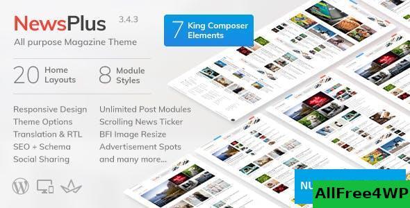 Download NewsPlus v3.8.2 - News and Magazine WordPress theme