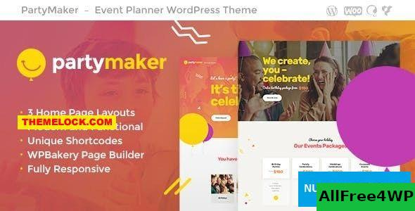 Download PartyMaker v1.1.3 - Event Planner & Wedding Agency WordPress Theme