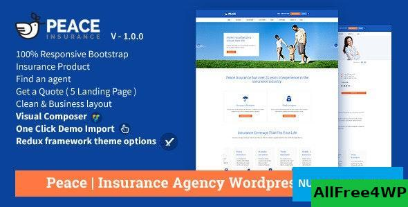 Download Peace v2.5.6 - Insurance Agency WordPress Theme