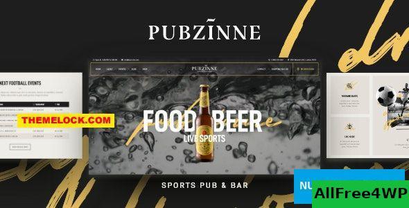Download Pubzinne v1.0.0 - Sports Bar WordPress Theme