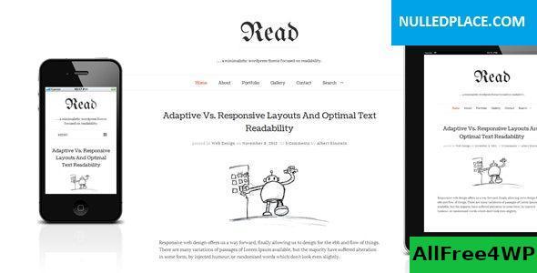 Download Read WP v4.4.9 - Minimalist WordPress Blog Theme
