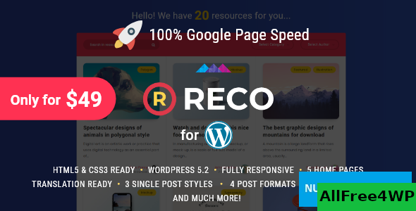 Download Reco v4.1.0 - Minimal Theme for Freebies