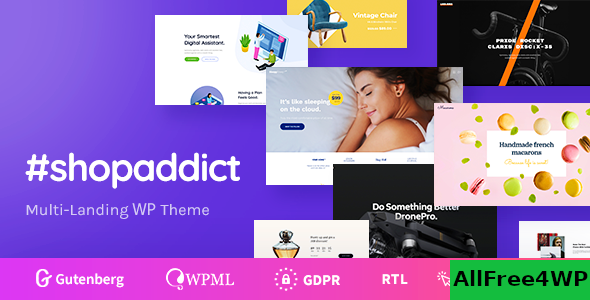 Download Shopaddict v1.0.2 - WordPress Landing Pages To Sell Anything